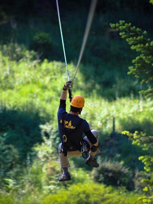 Ziplining on San Juan Island